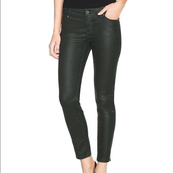 32cccb3666107 White House Black Market Pants | Whbm Black Coated Skinny Jeans ...